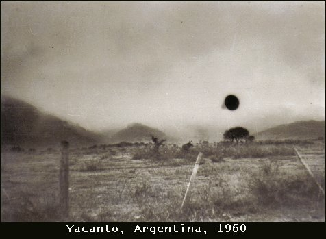 Фото НЛО: 1960-Яканто, Кордова, Аргентина. 3 июля
